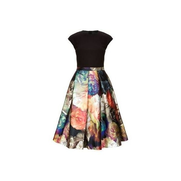 Ted Baker Eana Technicolour Bloom Skirt Dress (1.055 DKK) via Polyvore featuring dresses, ted baker and ted baker dresses