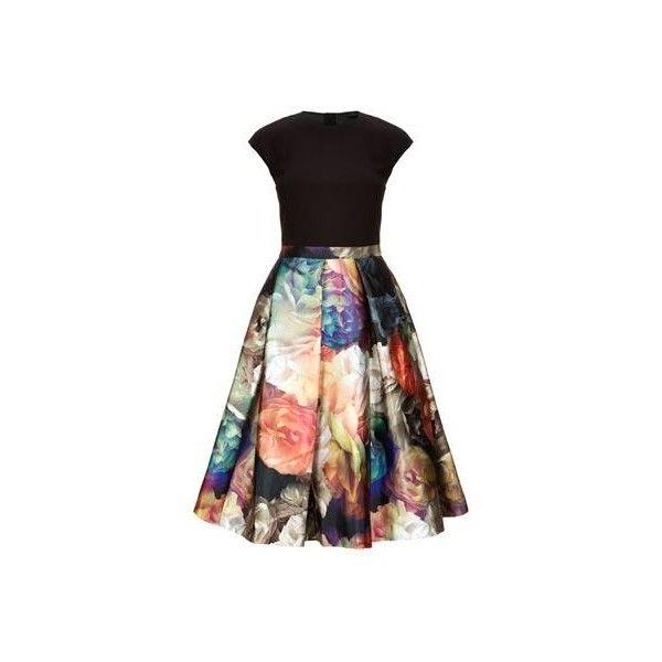Ted Baker Eana Technicolour Bloom Skirt Dress (1.055 DKK) via Polyvore featuring dresses, ted baker and ted baker dresses