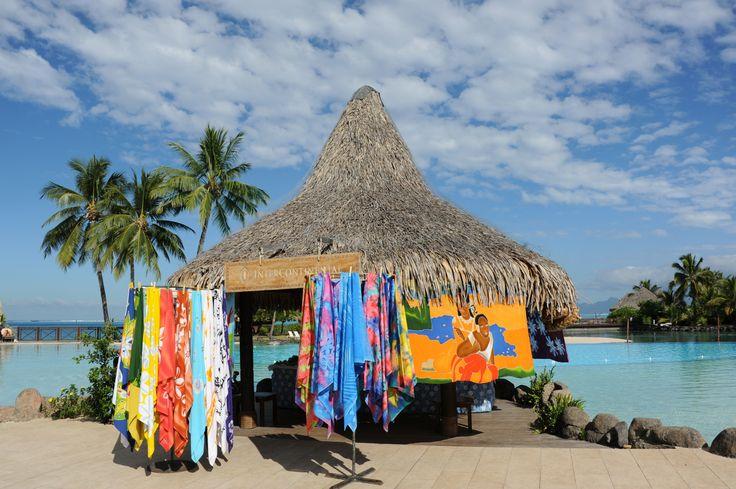 Pareo shop @ InterContinental Tahiti Resort and Spa. インターコンチネンタル タヒチ リゾート アンド スパのパレオショップ