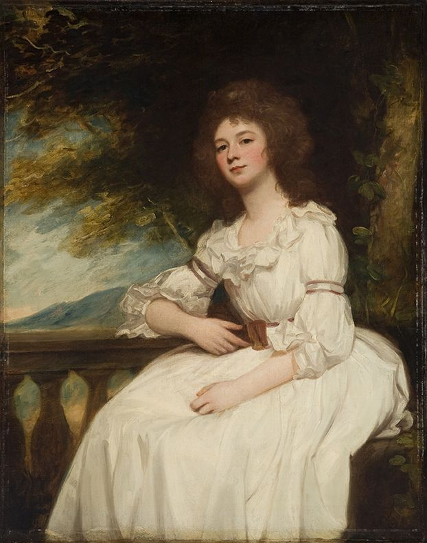 George Romney- PORTRAIT OF MISS KITTY CALCRAFT. Shaping America exhibition going on now at the MOA.