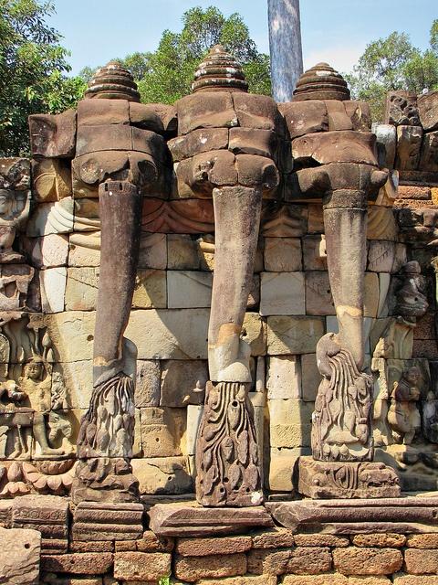 Terrace of the Elephants - Angkor Wat - Siem Reap, Cambodia