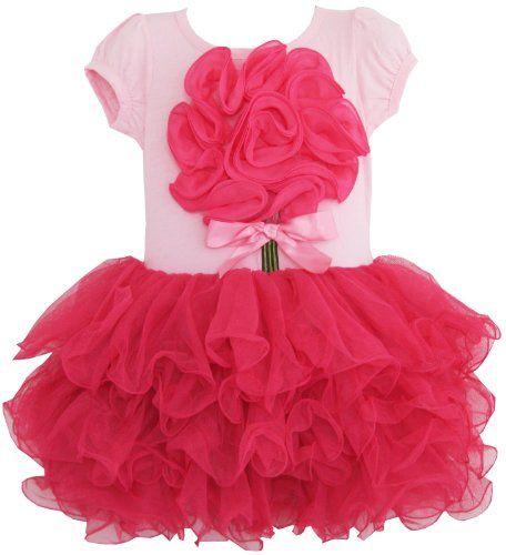 BH75 Girls Dress Tutu Tull Hot Pink Dancing Party Kids Clothes Size 7 Sunny Fashion http://www.amazon.com/dp/B009YB4XW2/ref=cm_sw_r_pi_dp_dnWtub1RTEDY7