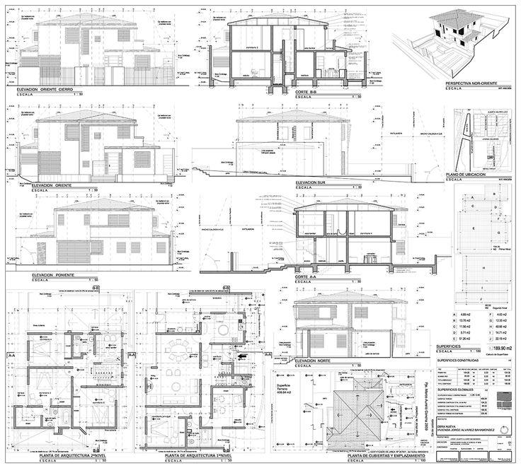 Proyecto Arquitectura Habitacional Casa Mac 220 - Planos.