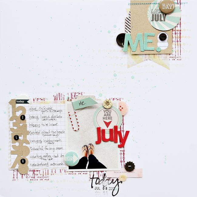 Sketch to Scrapbook Page:: Scrapping Yourself by Corrie Jones @ shimelle.com