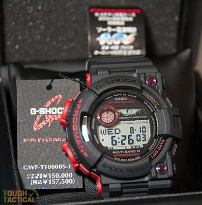 G-Shock Frogman GWF-T1000BS-1JR with Ruby stone limited to 200 pcs.