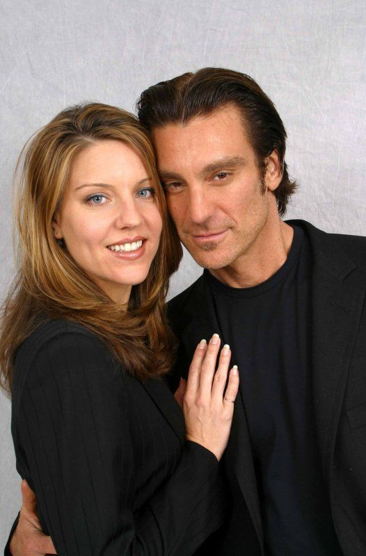 Andrea Parker and Michael T. Weiss. They look cute together, and I really wanted them in the series to get together!