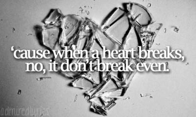 ''Cause When A Heart Breaks, No, It Don't Break Even' -The Script 'Breakeven'