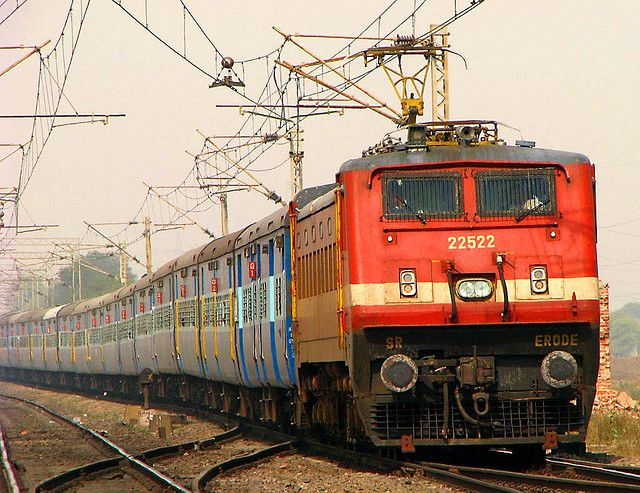 My favorite loco WAP4 #22522 with my favorite train, Kerala Express!