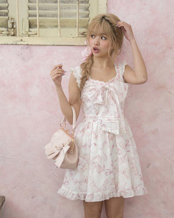 【予約】リボン柄ワンピース|ワンピース | LIZ LISA(リズ リサ) | Tokyo Kawaii Life