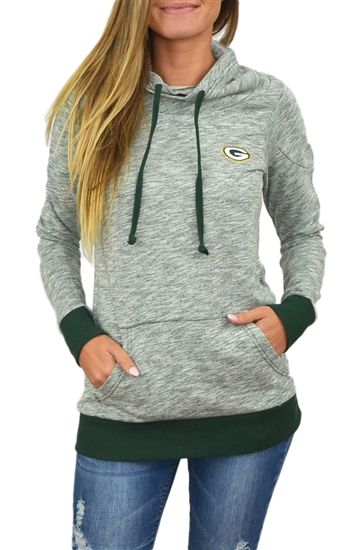 Green Bay Packers Womens Cowl Neck Sweatshirt