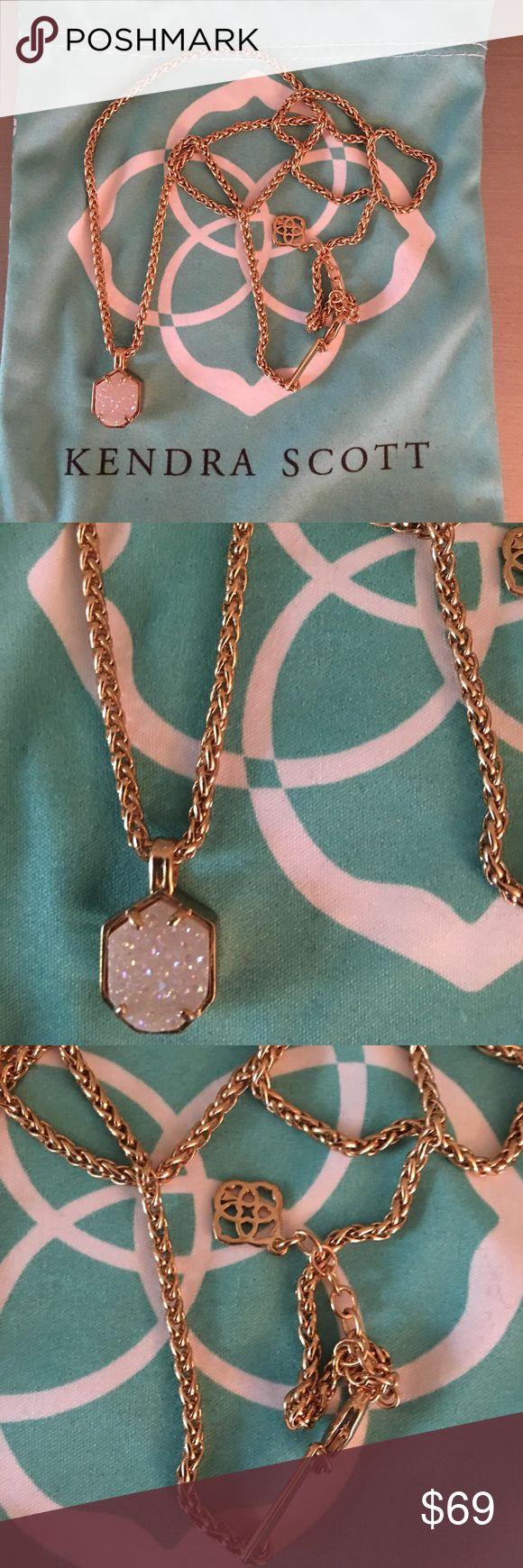 🛍 Kendra Scott Olive Rose Druzy Gold Necklace Gold tone. Kendra Scott Jewelry Necklaces