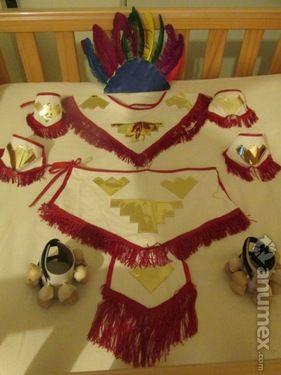 Traje de Danza Azteca o Conchero, Talla 10 años-Solo se uso                                                                                                                                                                                 Más