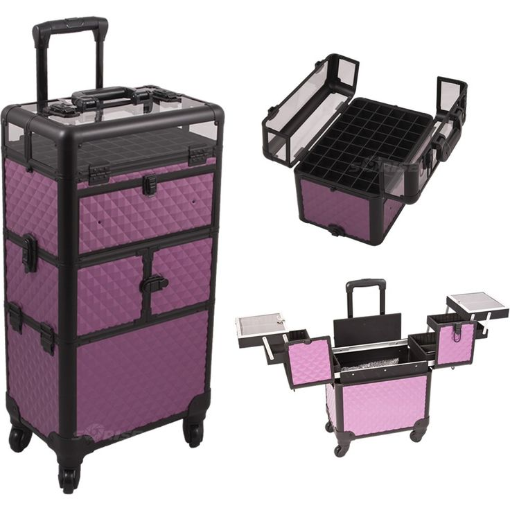 Best 25 makeup trolley ideas on pinterest black makeup case this case with a stylish purple diamond finish is the ultimate trolley case for professionals of all kinds with plenty of storage for all makeup nails prinsesfo Gallery