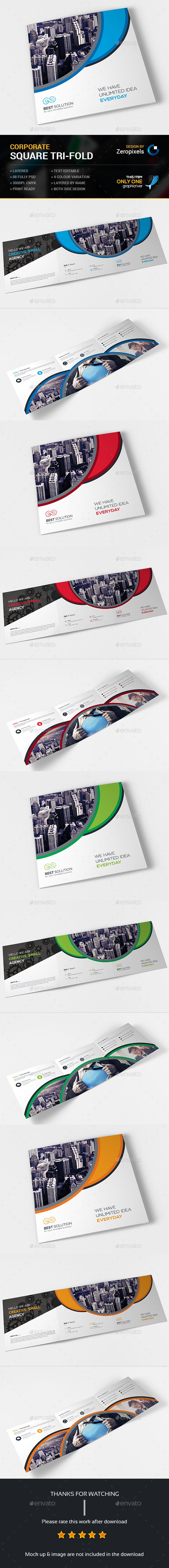 Corporate Square Tri-fold Brochure Template PSD. Download here: http://graphicriver.net/item/corporate-square-trifold-brochure/14993348?ref=ksioks