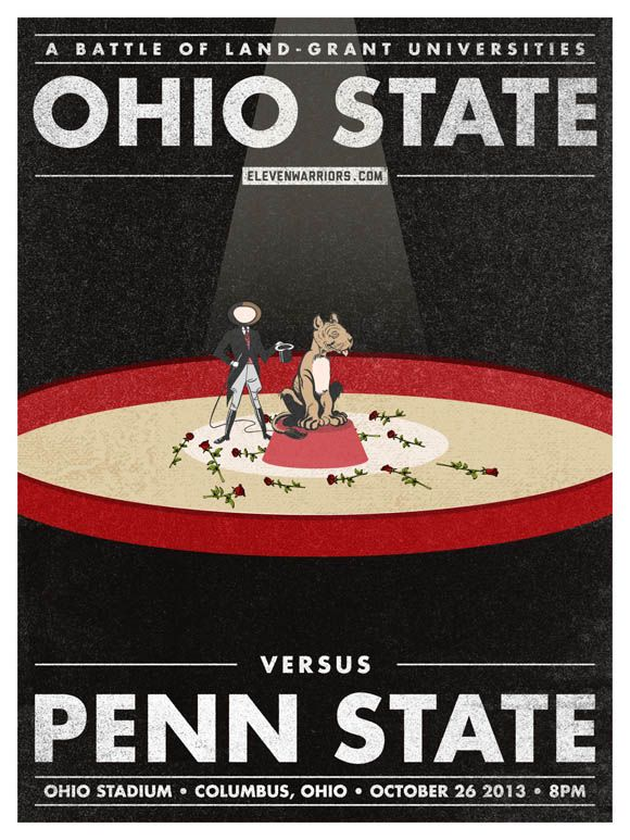 Ohio State vs Penn State game poster