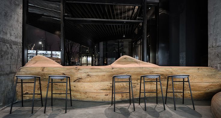 daipu architects wood mountain pub china