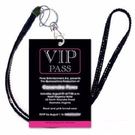 Invitaciones De 15 Pases Vip - Cumpleaños Super Originales!! - $ 18,00 en MercadoLibre