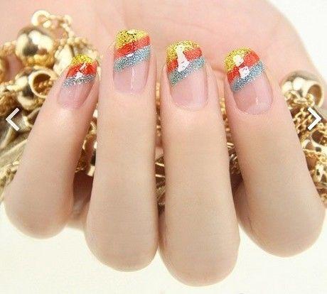 Rainbow nail | beauty fashion idea