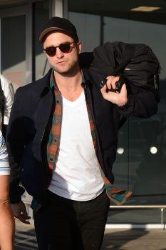 Robert Pattinson Touches Down At JFK