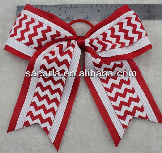 Wholesale Chervon cheerleading hair bow $0.28~$0.68