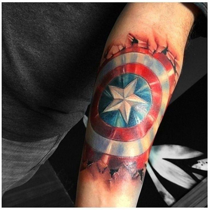 Captain America Shield Tattoo