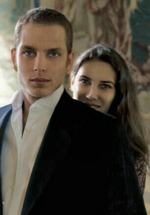 Andrea Casiraghi, son of Princess Caroline of Monaco, with his fiance, Tatiana Santo Domingo.