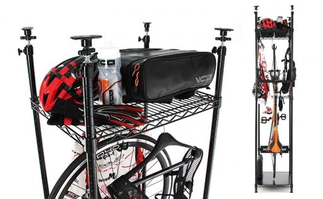 立てて収納する自転車用ラック「バイシクルハンガー」が自転車ブランド「DOPPELGANGER」から販売開始された。壁にボルトや釘を打たなくて済むので、賃貸住宅でも利用できる。