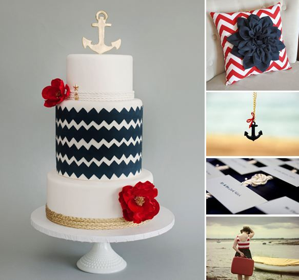 nautical wedding....how cute to do for Paige and her Delta Gamma sisters!!!