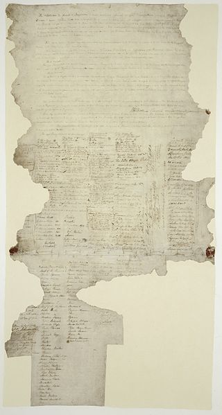 One of the few extant copies of the Treaty of Waitangi. This Day in History: Mar 28,1860: First Taranaki War: The Battle of Waireka begins. http://dingeengoete.blogspot.com/