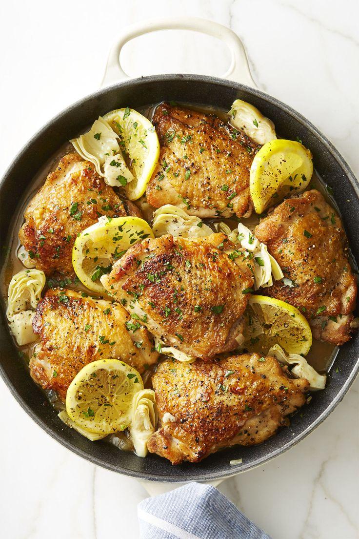 Skillet Lemon Chicken with Artichokes - GoodHousekeeping.com