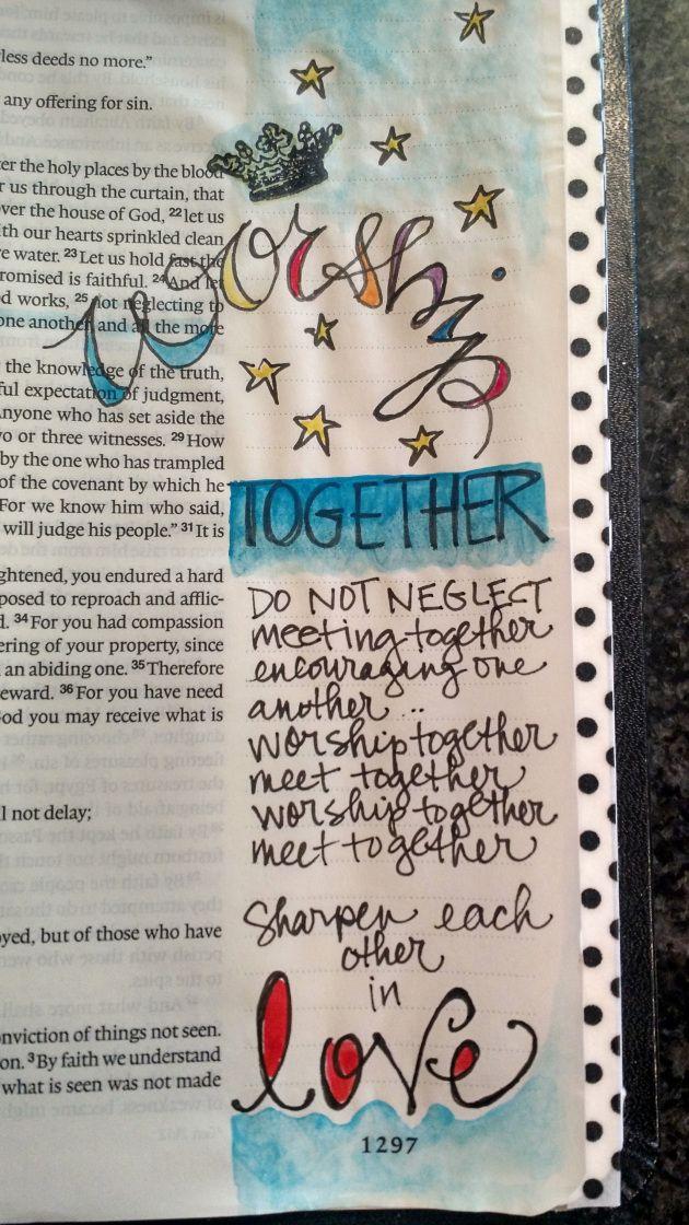Bible Art Journaling:worship together