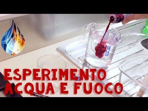 Esperimento con acqua e fuoco fai da te: il risucchio