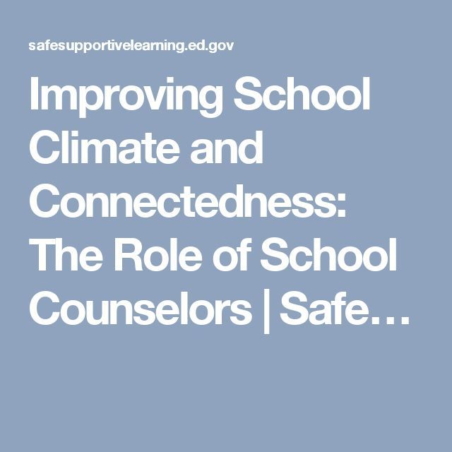 Improving School Climate and Connectedness: The Role of School Counselors…