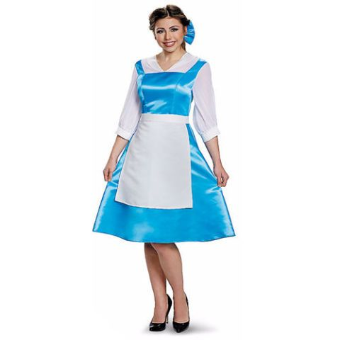 $39BUY NOW Before the big yellow ball gown came the classic blue dress. This chic slip-on dress is perfect for strolling througha quiet village, waving bonjour,and discovering an enchanted rose.