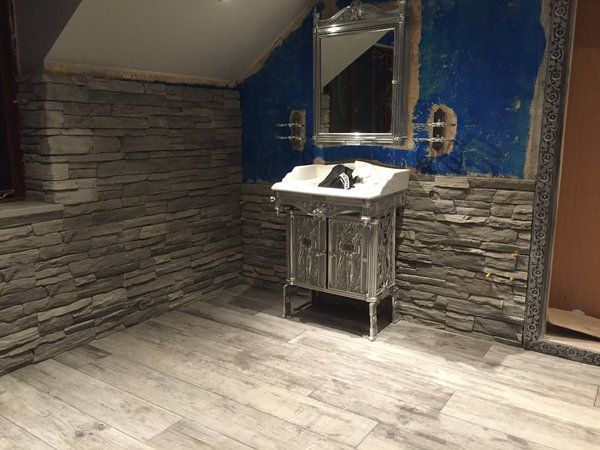 Porcelain floor tiles with eco stone cladding wall from fitted by pro tilers - Amazing classic luxury bathroom inspirations tranquil retreat ...