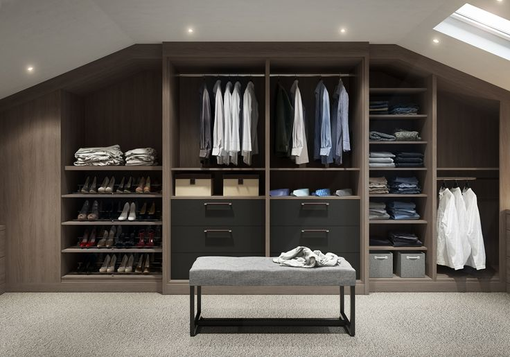 The Varenna Walk-in Wardrobe is beautifully crafted and personalised to your needs from IQ Furniture.
