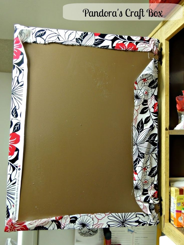 How To Cover Cabinet Doors With Fabric And Mod Podge