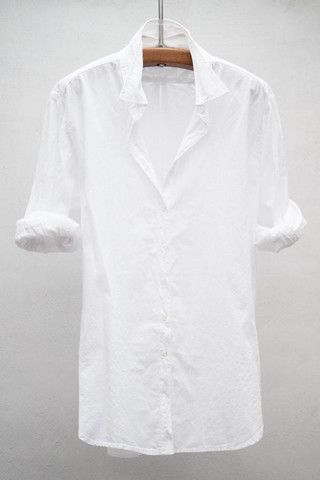 A white shirt; one of the 8 pieces you definitely need in your wardrobe: http://etvoila.info/the-8-pieces-you-absolutely-need-to-have-in-your-wardrobe/