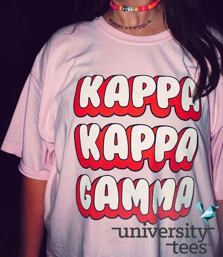 Loving this font! I Kappa Kappa Gamma I Made by University Tees I Apparel Designs   Custom Greek Apparel   Sorority Tanks   Sorority Shirt Designs I Greek T-shirts