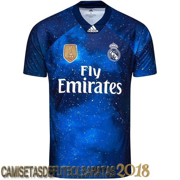 Azul Marino Camiseta Ea Sport Real Madrid 2018 2019 Baratas Real Madrid Soccer Tshirt Designs Ea Sports