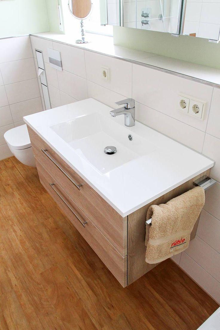 Waschtischplatte Mit Integriertem Waschbecken Unterschrank In Holzoptik Mit Zwe Waschbecken Badezimmer Waschtischplatte