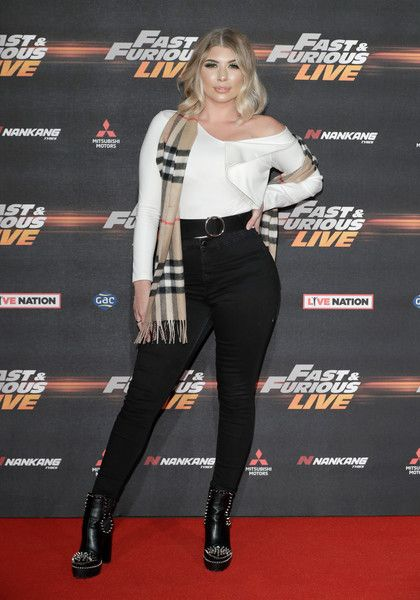 """Olivia Buckland attends the """"Fast and Furious Live"""" premiere at the O2 Arena on January 19, 2018 in London, England."""