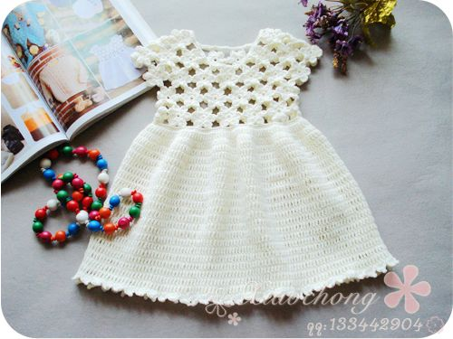 Sweet Little Girl Crocheted Dresses. Several on this page, with patterns included!