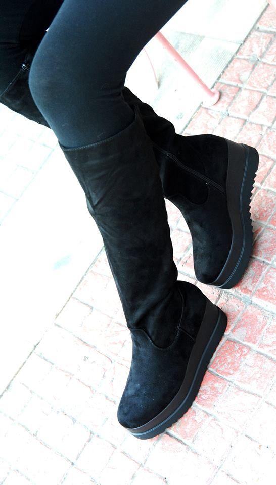 μποτα καλτσα (ευρυχωρη στην γαμπα) με ενιαιο τακουνι σε μαυρη σε νουμερα 36-40 τιμη 50ε #fashionista #storiesforqueens #handmadecollection #handmade #fashion #μοδα #lovemyboots
