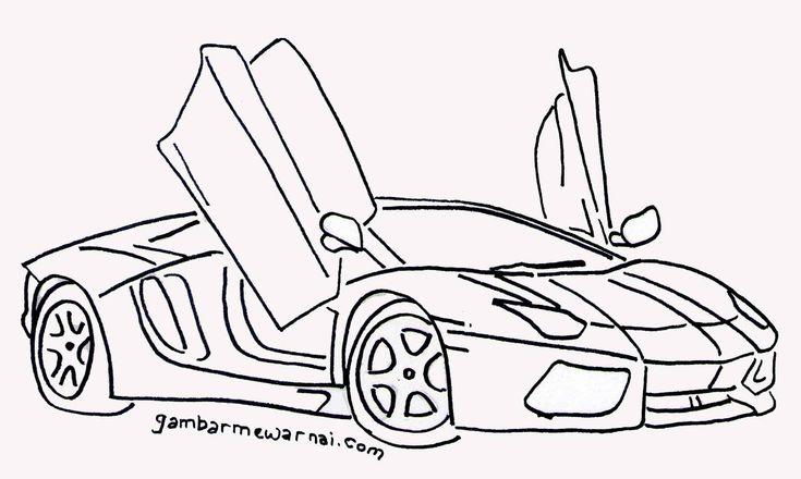 Download Gambar Mewarnai Mobil Keren