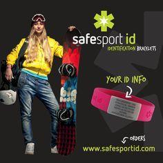 SAFESPORT ID, Identity bracelets for SMART ACTIVE PEOPLE