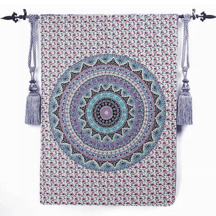 Bohemia Mandala Blue Tapestry Wall Hanging Bohemian Ethnic Decor Beach Towel Yoga Mat Blanket Table Cloth #Affiliate
