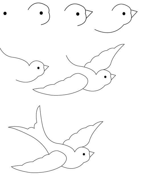 Kolay Kuş Çizimi #okuloncesi #okulöncesi #ilkokul #anaokulu #diy #kendinyap…