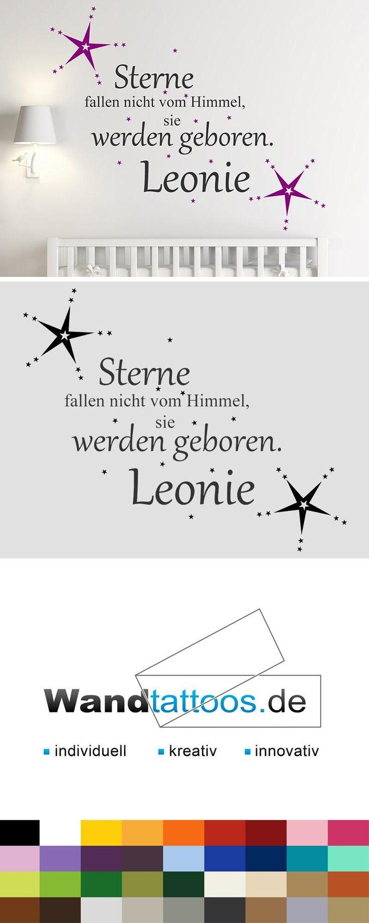 Wandtattoo Sterne fallen nicht vom Himmel... als Idee zur individuellen Wandgestaltung. Einfach Lieblingsfarbe und Größe auswählen. Weitere kreative Anregungen von Wandtattoos.de hier entdecken!