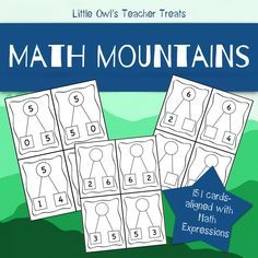 Math Mountains: Aligned with Math Expressions. Use these cards to support student understanding of the partners of 5-10! Each number includes: 1) a completed set of math mountains 2) math mountains with missing addends 3) math mountains with missing sums. There is also a blank set of math mountains.